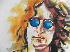John Lennon 03 Painting by Chrisann Ellis