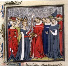 Louis II le Bègue recevant les Regalia