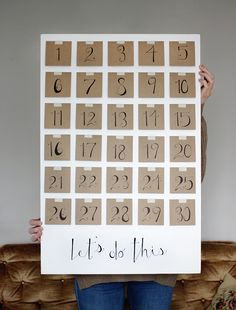 DIY Resolution Calendar