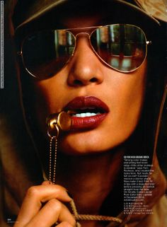 Joan Smalls for Glamour US (May 2014) photo shoot by Cedric Buchet #Joan_Smalls