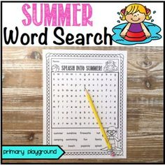 Summer Word Search Freebie! by Primary Playground | TpT