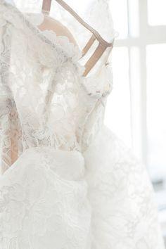 Marchesa Bridal Fall 2017 / Backstage / Wedding Style Inspiration / LANE