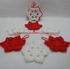 Estrellas de Navidad a Ganchillo