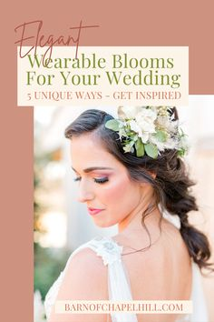 Head over to The Barn of Chapel Hill's blog to discover the 5 best ideas for wearable flowers. One inspiring idea: Instead of having your bridal party hold bouquets as they walk down the aisle, swap them out for pretty floral bracelets that complement the color of their dresses. Added bonus: The bridesmaids can dance with them! Discover for yourself 5 unique, wearable flowers for your wedding day. Wedding Hair Flowers, Flowers In Hair, Wedding Bouquets, On Your Wedding Day, Wedding Tips, Wedding Styles, Flora Farms, Honeymoon Planning, Wedding Etiquette