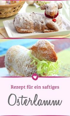 Osterlamm backen: Mit diesem Teig wird es schön saftig With this an Easter lamb will be nice juicy. Easter Bunny Cake, Easter Lamb, Easy Easter Desserts, Easter Recipes, Easter Cheesecake, Healthy Dessert Recipes, Food And Drink, Baking, Muffins