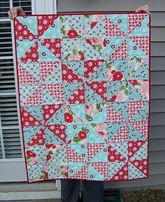 pinwheel quilt  Good pattern to do when I don't have a lot of time.  Looks like it can be done       fairly quick.