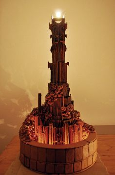 One Gingerbread Tower to Rule Them All. Two Finnish engineering and computer science students have build this magnificent gingerbread Barad-dûr tower using 13.5 pounds of delicious gingerbread in the process. Read more at http://www.geeksaresexy.net/2014/12/20/one-gingerbread-tower-rule-pics/#zkySc6ZZgUu10Z64.99