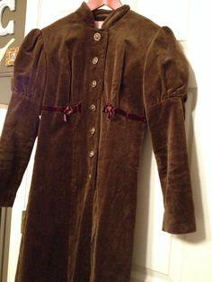 YOUNG EDWARDIAN ARPEJA Vintage Coat Leg O' Mutton Sleeve Brown Boho SteamPunk #youngEdwardian