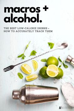 Tracking your alcohol intake with is an important part of fat loss or improvement in performance. You can have the flexibility to enjoy normal life as you work towards your fitness goals. These tips will help you have a great social life & continue your weight loss goals by counting macros for alcohol. We will teach you the best low-calorie alcoholic drinks and how to accurately track your macros when drinking alcohol.  #katelymannutrition #nutritioncoach #fitlifestyle #vodka #wine… Cocktail Recipes For A Crowd, Food For A Crowd, Nutrition Plans, Health And Nutrition, Healthy Alcoholic Drinks, Tracking Macros, Dinner With Friends, Flexible Dieting, Bartender