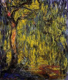 Monet exhibit at the Cincinnati Art Museum right now. This painting is breathtaking in person - you feel like you are inside the willow.