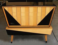 Kuba Tango Stereo Console 59-62.  Wow.  the front opens up to reveal the tuner and turntable.