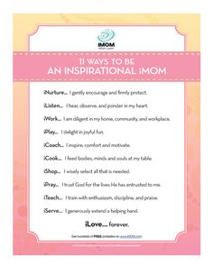 11 Ways to be an Inspirational Mom