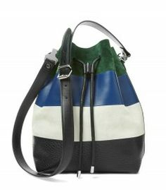 Proenza Schouler Color-Block Bucket Bag - It's time to embrace the bright and the beautiful. http://shop.harpersbazaar.com/trends/color-theory