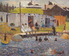 All sizes | William Glackens - The Bathing Hour, Chester Nova Scotia, 1910 at Barnes Foundation Philadelphia PA | Flickr - Photo Sharing!