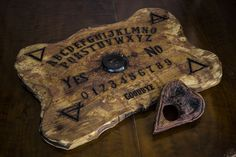 Real Ouija board Wood Hand-Sculpted by OrionOddities on Etsy