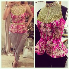 Frikkin love it! Peplum Blouse by Papa Don't Preach