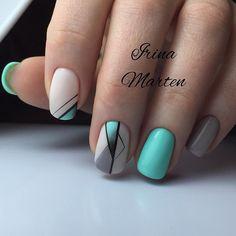 Irina Marten МОСКВА, м КУРСКАЯ ( Elegant Nail Designs, Diy Nail Designs, Yellow Nails, Green Nails, Perfect Nails, Gorgeous Nails, Stylish Nails, Trendy Nails, Summer Nails 2018