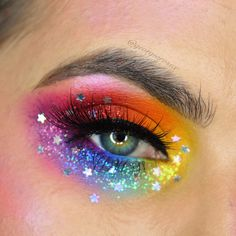 I Love Unicorns Maquiagem bem colorida . Creative Makeup Looks bem colorida love Maquiagem Unicorn unicornmakeup Unicorns Makeup Eye Looks, Eye Makeup Art, Eyeshadow Makeup, Fairy Makeup, Beauty Makeup, Rainbow Eye Makeup, Colorful Eye Makeup, Rainbow Eyes, Make Up Designs
