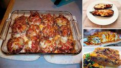 Platos con Berenjena que no te puedes perder Eggplant, Lasagna, Low Carb Recipes, Pork, Veggies, Meat, Chicken, Ethnic Recipes, Yummy Yummy