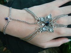 butterfly slave bracelet gemstone  gypsy boho by gildedingypsy, $28.00