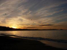 coucher de soleil sur la plage de Saint Jean de Luz - DR MelleBonPlan
