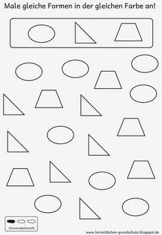 die formen lernen kreis rechteck quadrat dreieck schule pinterest kindergarten. Black Bedroom Furniture Sets. Home Design Ideas