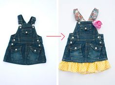 Making Clothes Last.  Great ideas for when kids grow out of their clothes!