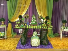 Princess and the Frog birthday party! See more party planning ideas at CatchMyParty.com!