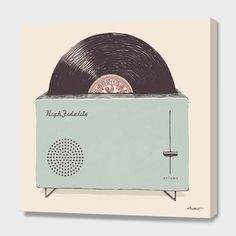 """""""High Fidelity Toaster"""", Numbered Edition Canvas Print by Florent Bodart - From $69.00 - Curioos"""