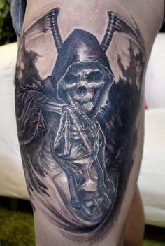 Tattoo Artist - Elvin Yong Tattoo - skull tattoo - www.worldtattoogallery.com
