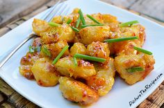 Orange Chicken with Thai Sweet Chili Sauce by pitcturetherecipe #Chicken #Orange_Chicken #picturetherecipe
