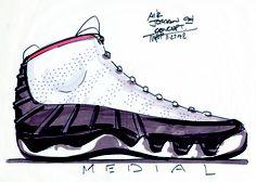 Air Jordan IX concept sketch, 1992