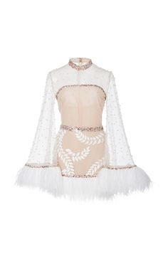 M'O Exclusive Embellished Tulle Mini Dress by Sandra Mansour Stage Outfits, Kpop Outfits, Dress Outfits, Fashion Dresses, Dress Up, Cute Outfits, Kpop Fashion, Korean Fashion, Womens Fashion
