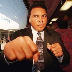 """Muhammad Ali's message aimed at Republican presidential candidate @realdonaldtrump packs quite a punch. Ali said the recent global terrorism crisis has """"perverted peoples views on what Islam really is."""" (AP photo) #ouch #donaldtrump #muhammadali #ali #politics #gop #presidentialrace #whitehouse #roadto2016 by usatoday"""