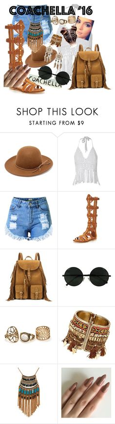 """""""Coachella Vibes"""" by cara-mitchell19 ❤ liked on Polyvore featuring RHYTHM, Topshop, KG Kurt Geiger, Yves Saint Laurent, Leslie Danzis and Boohoo"""