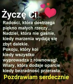Życzenia Birthday Wishes For Friend, Good Morning Funny, Diy Presents, Song Playlist, Make A Wish, Motto, Quotations, Texts, Psychology