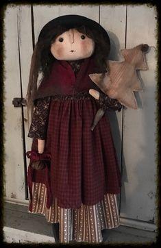 Primitive Folk Art, Country Primitive, Christmas Items, Christmas Crafts, Doll Crafts, Doll Clothes, Felt, Seasons, Rag Dolls