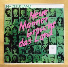 INA DETER BAND - Neue Männer braucht das Land - Vinyl LP - OIS - German Pop RARE