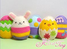 easter felt craft projects  | Felt Crafts Easter