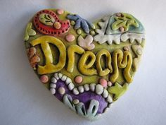 Your place to buy and sell all things handmade Clay Magnets, Paisley Design, Clay Beads, Never Give Up, Color Patterns, Heart Shapes, Polymer Clay, Antiques, Dream Life