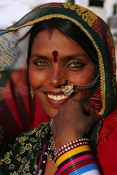 Beautiful smiling woman from Rajasthan