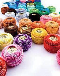 """Dmc perle 5 boule de coton couleur violet/"""" 208/"""""""