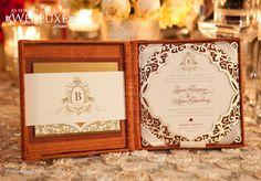 Invitique •www.invitique.com •Wedding invitation •Lasercut •gold foil