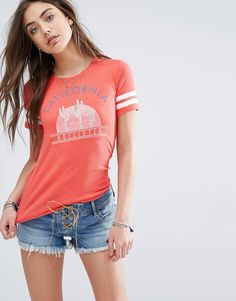 Hollister+Logo+California+Cactus+Burnout+T-Shirt+with+White+Stripe+Sleeeves