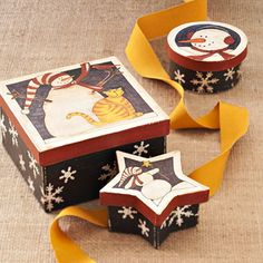 Adorable Snowman Gift Boxes