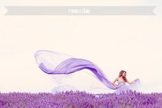 Lavender dress in lavender fields {Provence} Lavender tulle dress Shooting in lavender fields