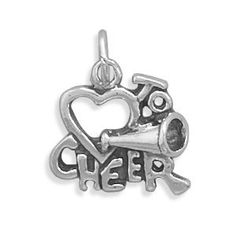 Cheerleading Love to Cheer Charm Sterling Silver - Made in the USA AzureBella Jewelry. $18.58. Made in the USA. .925 sterling silver