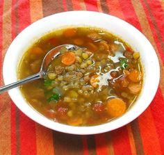 Superhéroes hasta en la sopa: las maravillosas lentejas: Una reconfortante y nutritiva sopa de lentejas.