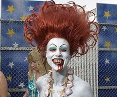 Pin for Later: See Celebratory Mardi Gras Beauty Looks From Around the World Coney Island in NYC Is that you . . . Scariel?
