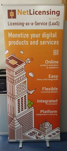 Our new #NetLicensing ( Licensing-as-a-Service ) roll-up banner is here. Talk to us if you need support and fresh ideas on how to #monetize your #digital products and services. - online product #activation and #validation - easy setup and #integration - flexible licensing #models - integrated #eCommerce - platform independent #licensing